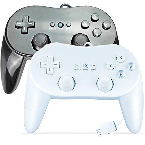 SONVIEE 2 mandos Classic Pro para Nintendo Wii, Wired Wii Gamepad Pro Pad para juegos clásicos de Wii