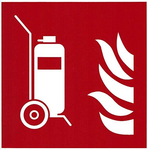 Schild fahrbarer Feuerlöscher 20x20cm Kunststoff nachleuchtend ASR ISO7010 von MBS-FIRE