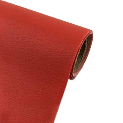 [Fumemo] レザーシール 貼るレザー PU 合皮 レザー 革 家具 ソファ 車 シート 財布 バッグ 修理 (赤)