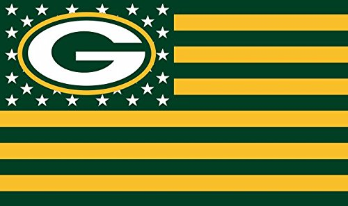 NFL Grün Bay Packers Sternen und Streifen Flagge Banner–3x 5ft–USA Flagge