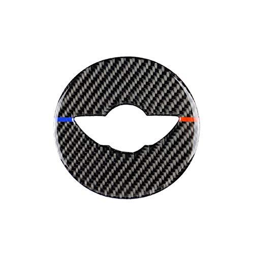 Pegatinas para Volante De Coche Decoración De Fibra De Carbono para Mini para Cooper One S JCW R55 R56 R60 R61 F54 F55 F60 Accesorios De Coche (Color : F Series A)