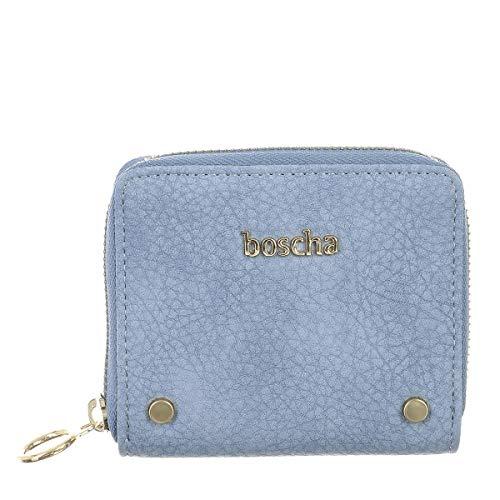 Boscha Damen Mini- Geldbörse Geldbeutel Portemonnaie Blue Blau Klein
