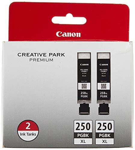 Canon PGI-250XL Black Twin Pack Compatible to MG6320, iP7220 & MG5420, MX922, MG7120, MG6420, MG5520, MG7520, MG6620, MG5620