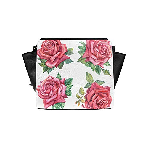 Small Travel Bag Set Red Pink Glorious Romantic Rose Satchel Bag Crossbody Bags Travel Bags Duffel Shoulder Bags Luggage For Lady Girl Women Best Crossbody Bags For Women