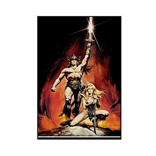PDFKE Conan el bárbaro Lienzo Pintura Carteles e Impresiones Cuadros de Arte de Pared para el hogar de la Sala de Estar -50x70 cm sin Marco 1 Uds