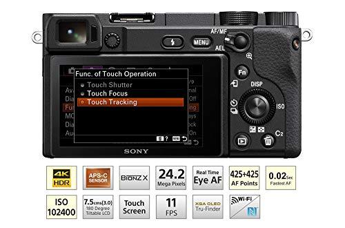 Sony Alpha ILCE-6400L 24.2MP Mirrorless Digital SLR Camera (Black) with 16-50mm Power Zoom Lens + SanDisk 128GB Extreme Pro SDXC UHS-I Card - C10, U3, V30, 4K UHD, SD Card