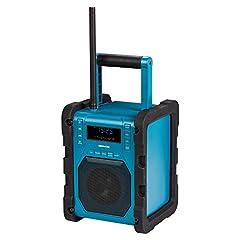 MEDION P66098 DAB+ bouwplaatsradio met Bluetooth-functie, USB, AUX, hoofdtelefoonaansluiting, PLL FM, RDS, ingebouwde batterij Blauw*