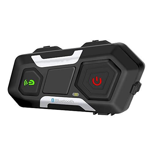 LNLJ - Altavoz para casco de motocicleta, impermeable, 1200 m, 3 conductores, inalámbrico, sistema de comunicación manos libres, para escuchar música, GPS, llamada, radio FM, 1 unidad., L
