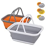 Tiawudi 2 Pack Collapsible Sink with 2.25 Gal / 8.5L Each Wash Basin for Washing Dishes, Camping,...
