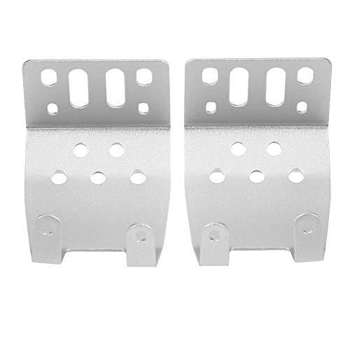RC Axle Skid Plate, Metallachse Skid Plate Protection Case für SCX10 1/10 RC Car Upgrade Zubehör( Silber)