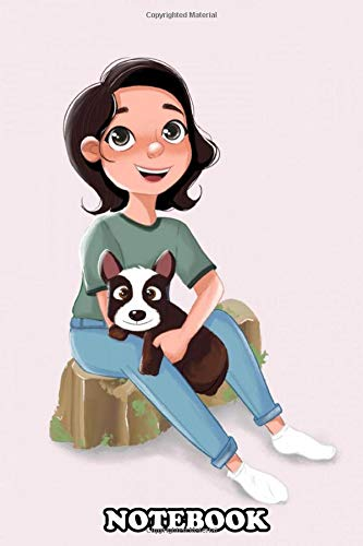 Notebook: Digital Illustration Of A Girl And Her Best Friend , Journal for Writing, College Ruled Size 6' x 9', 110 Pages