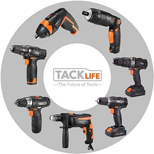 TACKLIFE Cordless Screwdriver, Electric Screwdriver, 4V MAX 2.0Ah Li-ion with Battery Indicator, 31 Free Accessories, USB Rechargeable, Lightweight and Easy for Small Home Projects-SDP50DC