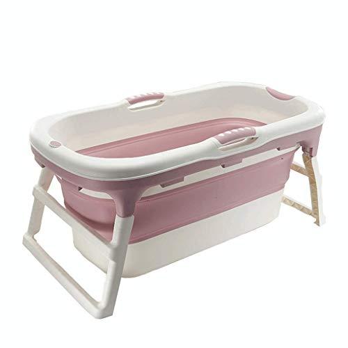Qiutianchen Bañera Adulta sin-silp, Ducha Plegable portátil con alargamiento de Ducha de Espesamiento bañera de SPA Azul Rosa remojo (Color : Pink)