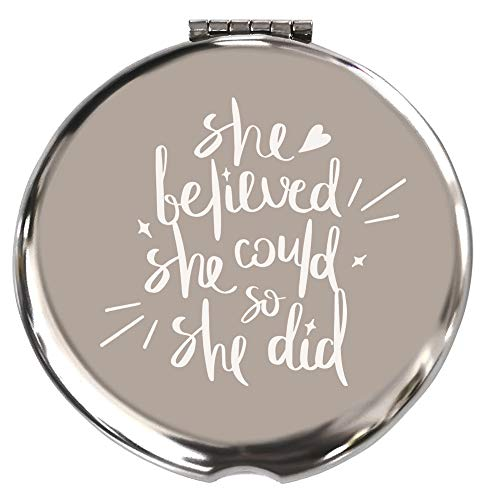 She Believed She Could So She Did-Inspirational Makeup Mirror,Gift for Boss Lady Strong Female Gifts Ideas Woman Bosses Manager Boss Babe,Congratulations, Graduation, Promotion, Going Away, Job Change