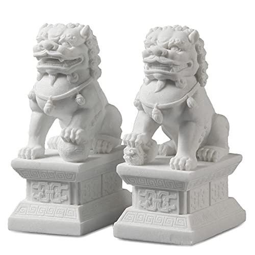 Pair of Fu Foo Dogs Guardian Lion Statues,Beijing Lions...