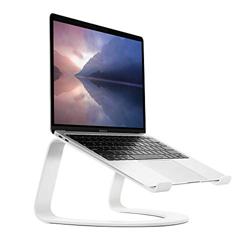 Twelve South Curve Laptopständer für MacBook und Notebooks | Ergonomischer, belüfteter Notebook Stand für Zuhause oder Büro, weiß (Sonderausgabe)