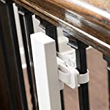 Qdos Universal Stair Mounting Kit for All Baby Gates - Universal Solution for Gate Installation on Banisters and Spindles - No Screws in Banister - Works with All Gates - Easy Installation | White