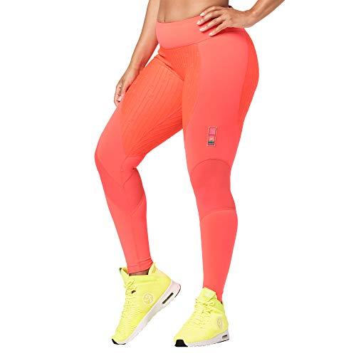 Zumba Leggings de compresión para Mujer, con Cintura Ancha y Suave, para Entrenamiento, con impresión de compresión para Mujer, Mujer, Leggings, Z1B00679, Bold Coral, XXL