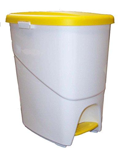 Denox Cubo Basura ecológico, Amarillo y Blanco, Centimeters