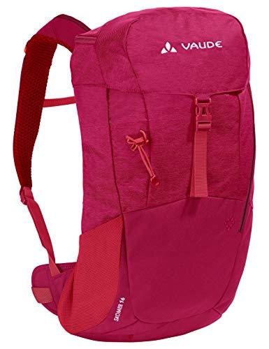 VAUDE Damen Rucksäcke15-19l Women\'s Skomer 16, Kompakter Wanderrucksack für Tagestouren, crimson red, one Size, 129789770