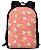 Mochila Escolar,Carry Everyday Bookbag Adult Laptop Laptop Bag Mochilas de Viaje Helado Rosa Unisex Durable Mochila Informal para Negocios Escolares