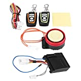 Motorcycle Alarm System, 12V Universal Motorcycle Anti-Theft System with Double Remote Control Engine Start, Anti-Theft Security Kit for Motorcycle, Bike, Vehicle