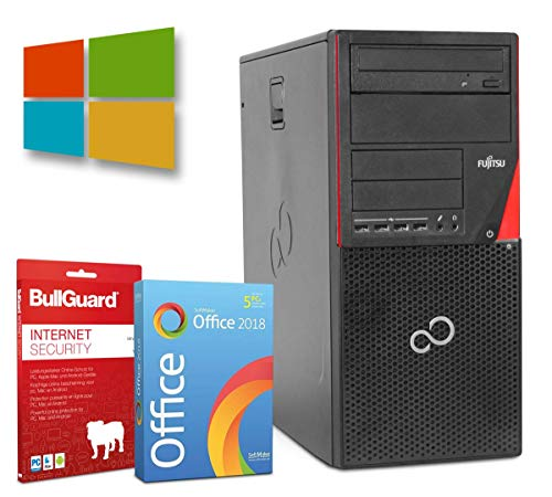 Fujitsu Esprimo P700 Tower | Intel Core i3-2100@ 3,1GHz | 8GB | 256GB SSD | DVD-ROM | Windows 10 Pro | BullGuard | SoftMaker Office (Generalüberholt)