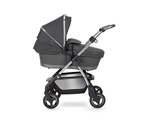 Silver Cross Wayfarer 2020 Travel System, Lightweight Baby Pram for Newborn to Toddler, with Reclinable Reversible Pushchair Seat and Carrycot - Clay