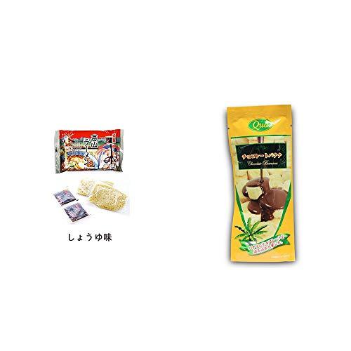 [2点セット] 飛騨高山ラーメン[生麺・スープ付 (しょうゆ味)]・フリーズドライ チョコレートバナナ(50g)