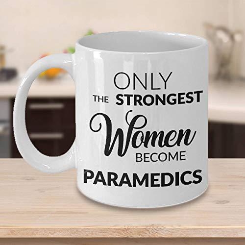 DKISEE Keramiktasse für Sanitäter, Geschenke für Frauen, Sanitäter, Abschlussgeschenk, nur die stärksten Frauen werden Sanitäter, Tasse für Sanitäter, Kaffeetasse, Geschenk, 425 ml