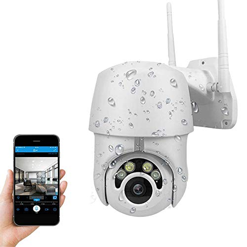 Hikity PTZ Wireless Security Camera Outdoor Indoor Surveillance Bullet Camera WiFi IP Camera With FHD 1080P IP66 Weatherproof Night Vision 2 Way Audio Motion Detection Alarm IP Remote Intelligent Camera