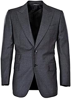 HS - Tom Ford Chaqueta Hombre Gris Oscuro Solo Blazer Gris Oscuro 54L Normal
