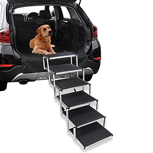 JYOKK Rampa Perros Coche Plegable,Rampa para Perros Grandes Y PequeñOs,Aluminio Escaleras para...