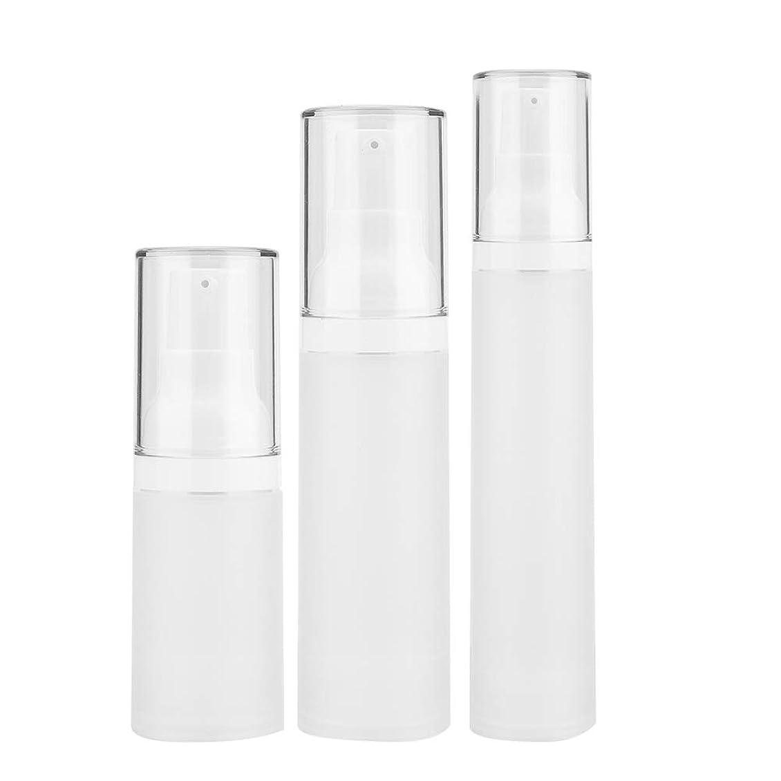 アラバマ知覚さわやか3本入りトラベルボトルセット - 化粧品旅行用容器、化粧品容器が空の化粧品容器付きペットボトル - シャンプーとスプレー用(3 pcs)