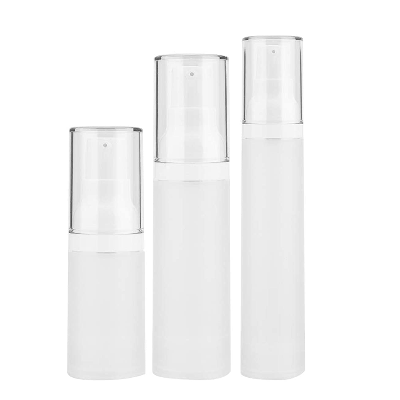 きれいに未使用麦芽3本入りトラベルボトルセット - 化粧品旅行用容器、化粧品容器が空の化粧品容器付きペットボトル - シャンプーとスプレー用(3 pcs)