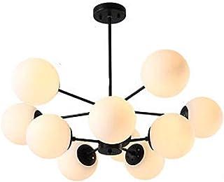 Chandelier, Bubble Glass Ball Chandelier 8-Light Fixture Bubble Pendant lamp Ceiling lamp/Antique lamp Mid Century E27 Liv...
