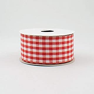 Best red and white plaid wired ribbon Reviews