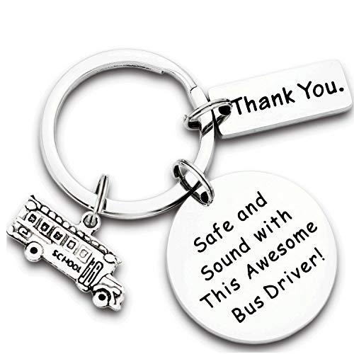 Kivosliviz Bus Driver Gift Keychain School Bus Retired Thank You Keychain