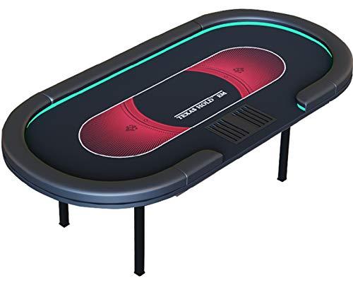 RSTJ-Sjap Mesa De Póker Plegable Profesional, Mesa Poker, Tabla De Viruta De Carga USB LED USB LED,A