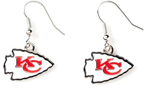 Aminco NFL Kansas City Chiefs Logo Dangler Earrings