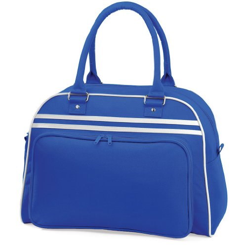 Sporttasche 'Retro Bowling Bag' Bright Royal/White