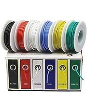 Flexibele siliconen draad, 30/28/26/24/22/20/18 AWG flexibele siliconen Wire Kabel draden, 6 kleuren Mix pakket elektrische draad koperen leiding DIY (Size : 22awg)
