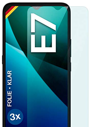 moex Clear Screen Protector Compatible with Motorola Moto E7 - Display Film Crystal Clear, HD Screen Protector, Thin Scratch-Resistant Film, Pack of 3