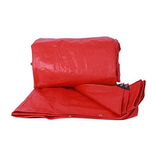 Abdeckplane Schutzplane mit Ösen wasserdichte für Gartenbereich Pool Auto FENGMING (Color : Red, Size : 4x8M)