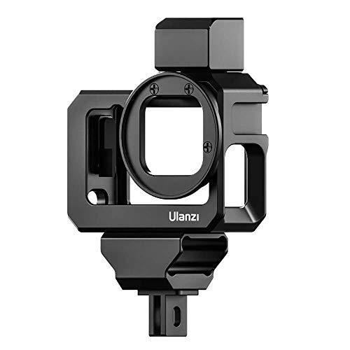 ULANZI G9 – 5 Vlog Cage – Compatible con GoPro Hero 9 negro – Carcasa de metal con adaptador de filtro y soporte Cold Shoe Mount