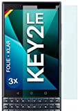 moex Protector de pantalla transparente compatible con BlackBerry KEY2 LE – Protector de pantalla...
