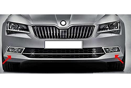 Para SuperB B8 2015-2019 acero inoxidable cromado luz antiniebla llanta cubierta 2 piezas