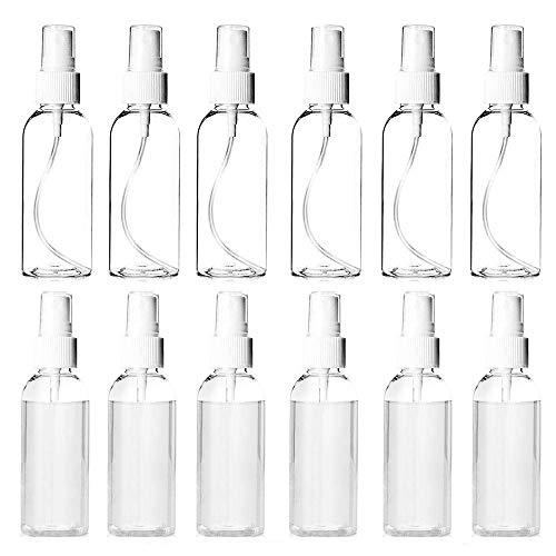 100ML スプレーボトル 小分けボトル スプレー容器 旅行 化粧品 液体詰替用ボトル 高 耐久性 透明 霧吹き ?? 空容器 12個セット