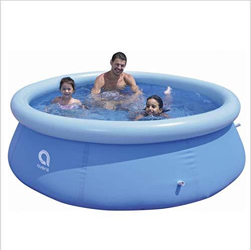 TTLIFE Piscina hinchable redonda para jugar al aire libre con agua nebulizada, piscina hinchable para niños, piscina de bolas oceánicas gruesa resistente al desgaste, 240 x 240 x 63 cm