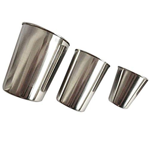 ZGHBZZY Taza de acero inoxidable con resistencia a la caída de vidrio para niños, botella de agua blanca para vino, sin BPA, para camping, senderismo, actividades al aire libre, (C 50 ml)